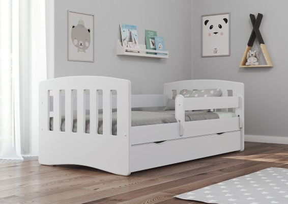 Toddler Bed with Drawers and Storage