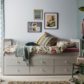 Loki Day Bed with trundle bed and pullout drawers