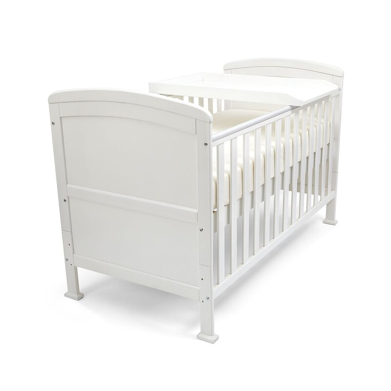 cot bed with changing top