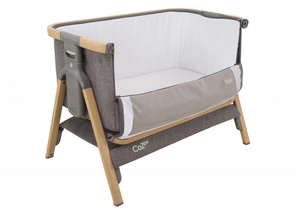 Tutti bambini cozee bedside crib with pulldown side