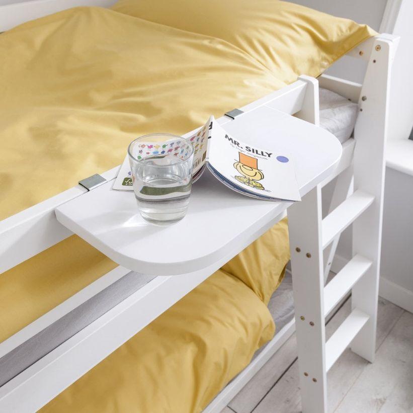 Clip on bed shelf